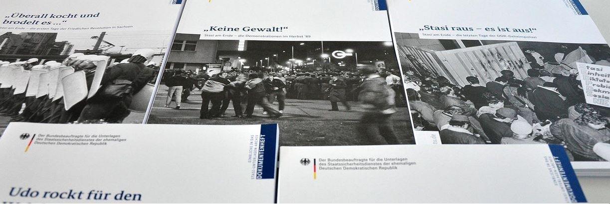Dokumentenhefte zum Thema Friedliche Revolution 1989 in der DDR